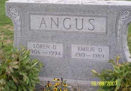 ANGUS, LOREN D. - Ross County, Ohio | LOREN D. ANGUS - Ohio Gravestone Photos