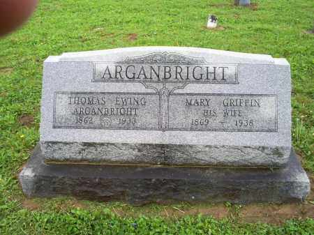 GRIFFIN ARGANBRIGHT, MARY - Ross County, Ohio | MARY GRIFFIN ARGANBRIGHT - Ohio Gravestone Photos