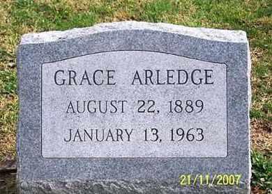 ARLEDGE, GRACE - Ross County, Ohio   GRACE ARLEDGE - Ohio Gravestone Photos