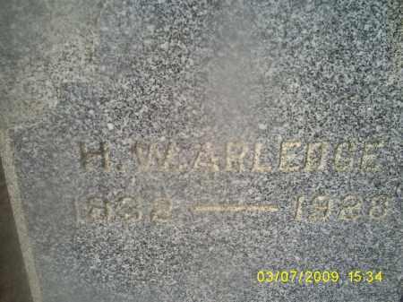 ARLEDGE, H. W. - Ross County, Ohio | H. W. ARLEDGE - Ohio Gravestone Photos