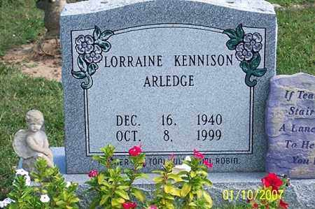 KENNISON ARLEDGE, LORRAIN - Ross County, Ohio | LORRAIN KENNISON ARLEDGE - Ohio Gravestone Photos