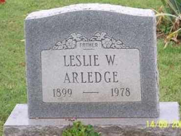 ARLEDGE, LESLIE W. - Ross County, Ohio | LESLIE W. ARLEDGE - Ohio Gravestone Photos