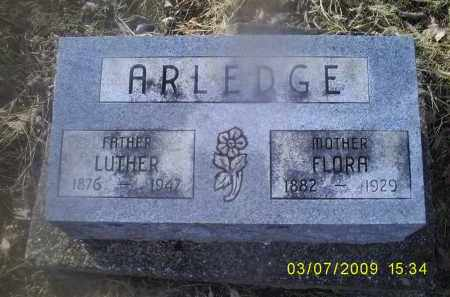 ARLEDGE, LUTHER - Ross County, Ohio | LUTHER ARLEDGE - Ohio Gravestone Photos