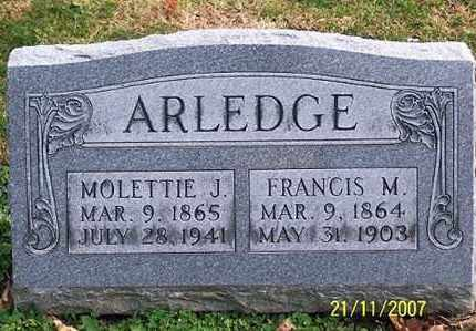 ARLEDGE, MOLETTIE J. - Ross County, Ohio | MOLETTIE J. ARLEDGE - Ohio Gravestone Photos