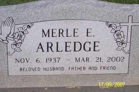 ARLEDGE, MERLE E. - Ross County, Ohio | MERLE E. ARLEDGE - Ohio Gravestone Photos