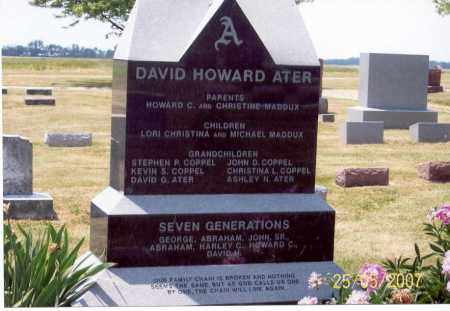 ATER, DAVID HOWARD - Ross County, Ohio | DAVID HOWARD ATER - Ohio Gravestone Photos