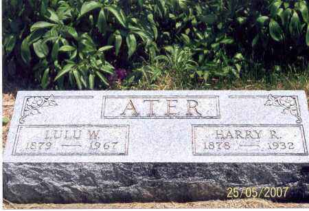 ATER, LULU W. - Ross County, Ohio | LULU W. ATER - Ohio Gravestone Photos