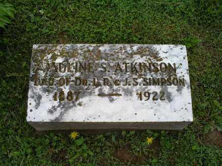 SIMPSON ATKINSON, PAULINE S. - Ross County, Ohio | PAULINE S. SIMPSON ATKINSON - Ohio Gravestone Photos