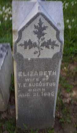 AUGUSTUS, ELIZABETH - Ross County, Ohio | ELIZABETH AUGUSTUS - Ohio Gravestone Photos