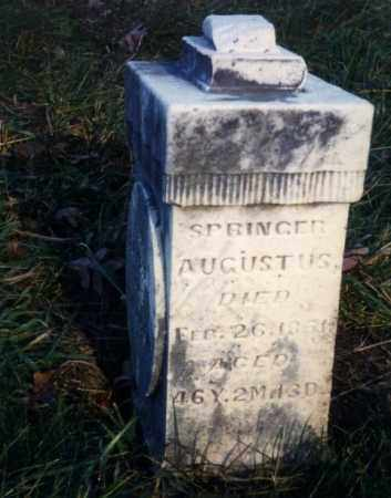 AUGUSTUS, SPRINGER - Ross County, Ohio | SPRINGER AUGUSTUS - Ohio Gravestone Photos
