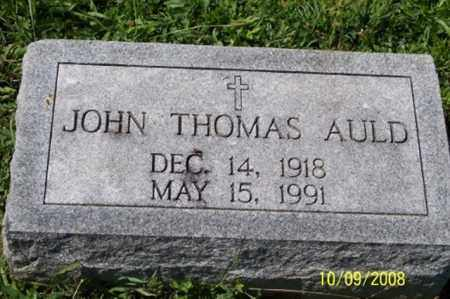 AULD, JOHN THOMAS - Ross County, Ohio | JOHN THOMAS AULD - Ohio Gravestone Photos