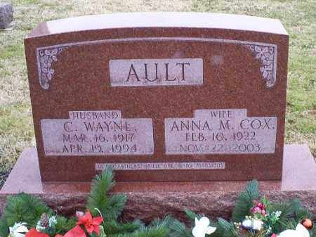 AULT, ANNA M. - Ross County, Ohio | ANNA M. AULT - Ohio Gravestone Photos