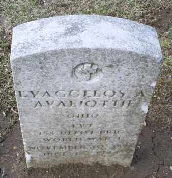 AVALIOTTIE, EVAGGELOS A. - Ross County, Ohio | EVAGGELOS A. AVALIOTTIE - Ohio Gravestone Photos
