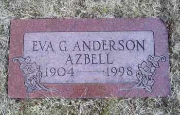 ANDERSON AZBELL, EVA G. - Ross County, Ohio | EVA G. ANDERSON AZBELL - Ohio Gravestone Photos