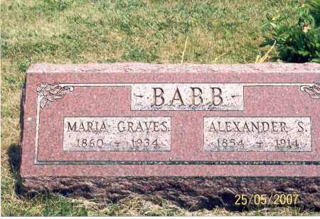 GRAVES BABB, MARIE - Ross County, Ohio | MARIE GRAVES BABB - Ohio Gravestone Photos