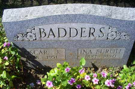 BURLILE BADDERS, INA - Ross County, Ohio | INA BURLILE BADDERS - Ohio Gravestone Photos