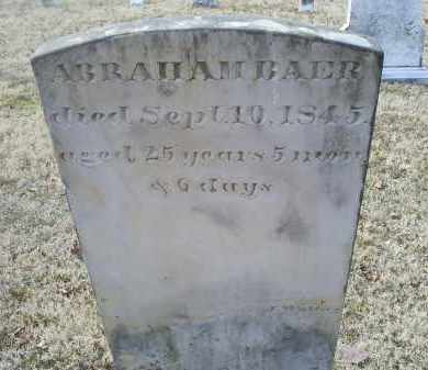 BAER, ABRAHAM - Ross County, Ohio | ABRAHAM BAER - Ohio Gravestone Photos