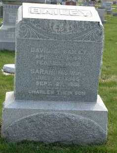 BAILEY, SARAH - Ross County, Ohio | SARAH BAILEY - Ohio Gravestone Photos