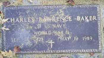 BAKER, CHARLES LAWRENCE - Ross County, Ohio | CHARLES LAWRENCE BAKER - Ohio Gravestone Photos