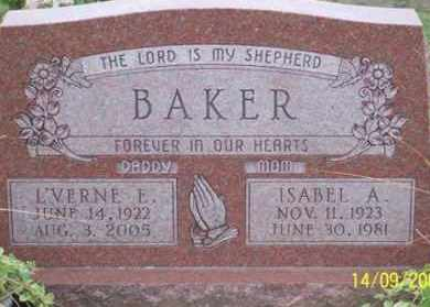 BAKER, L'VERNE E. - Ross County, Ohio | L'VERNE E. BAKER - Ohio Gravestone Photos