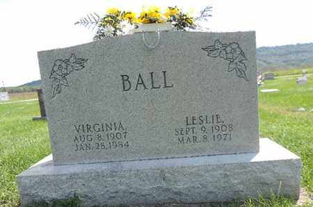 BALL, LESLIE - Ross County, Ohio | LESLIE BALL - Ohio Gravestone Photos