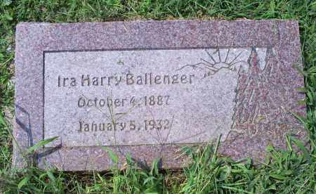 BALLENGER, IRA HARRY - Ross County, Ohio | IRA HARRY BALLENGER - Ohio Gravestone Photos