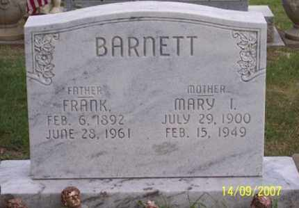 BARNETT, MARY I. - Ross County, Ohio | MARY I. BARNETT - Ohio Gravestone Photos