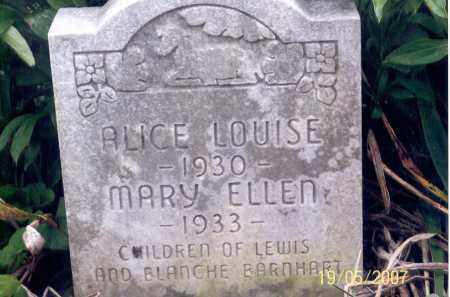 BARNHART, ALICE LOUISE - Ross County, Ohio | ALICE LOUISE BARNHART - Ohio Gravestone Photos
