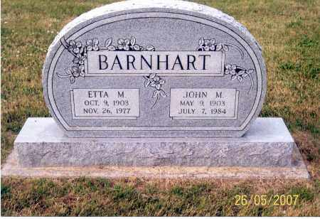 BARNHART, ETTA M. - Ross County, Ohio | ETTA M. BARNHART - Ohio Gravestone Photos