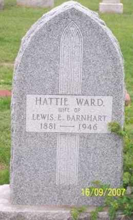 WARD BARNHART, HATTIE - Ross County, Ohio | HATTIE WARD BARNHART - Ohio Gravestone Photos