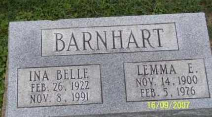 BARNHART, LEMMA E. - Ross County, Ohio | LEMMA E. BARNHART - Ohio Gravestone Photos