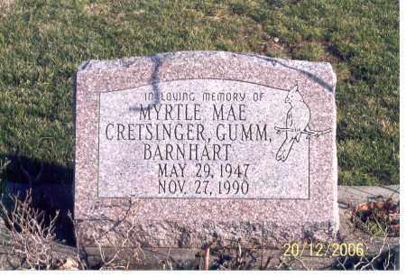 CRETSINGER, GUMM BARNHART, MYRTLE MAE - Ross County, Ohio | MYRTLE MAE CRETSINGER, GUMM BARNHART - Ohio Gravestone Photos