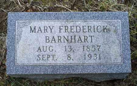 BARNHART, MARY FREDERICK - Ross County, Ohio | MARY FREDERICK BARNHART - Ohio Gravestone Photos