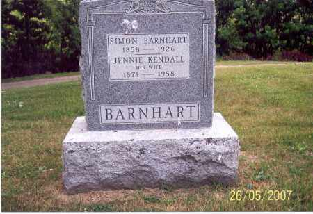 KENDALL BARNHART, JENNIE - Ross County, Ohio | JENNIE KENDALL BARNHART - Ohio Gravestone Photos