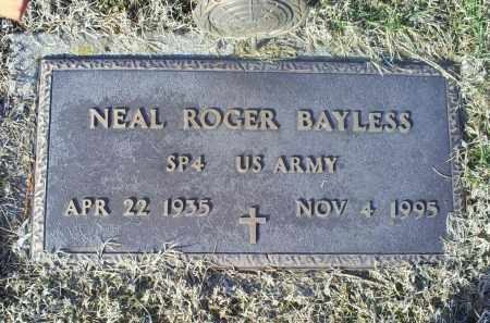 BAYLESS, NEAL ROGER - Ross County, Ohio | NEAL ROGER BAYLESS - Ohio Gravestone Photos
