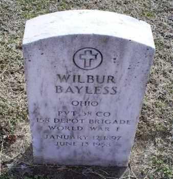BAYLESS, WILBUR - Ross County, Ohio | WILBUR BAYLESS - Ohio Gravestone Photos