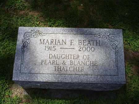 THATCHER BEATH, MARIAN F. - Ross County, Ohio | MARIAN F. THATCHER BEATH - Ohio Gravestone Photos