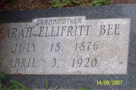 ELLIFRITT BEE, SARAH - Ross County, Ohio | SARAH ELLIFRITT BEE - Ohio Gravestone Photos