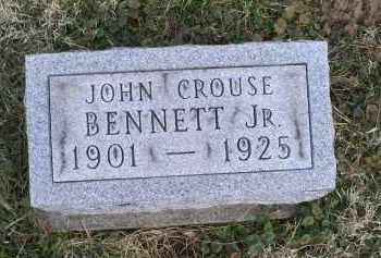 BENNETT, JOHN CROUSE JR. - Ross County, Ohio | JOHN CROUSE JR. BENNETT - Ohio Gravestone Photos