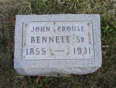 BENNETT, JOHN CROUSE SR. - Ross County, Ohio | JOHN CROUSE SR. BENNETT - Ohio Gravestone Photos