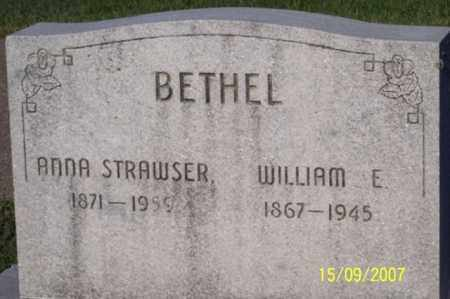 STRAWSER BETHEL, ANNA - Ross County, Ohio | ANNA STRAWSER BETHEL - Ohio Gravestone Photos