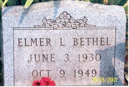 BETHEL, ELMER L. - Ross County, Ohio | ELMER L. BETHEL - Ohio Gravestone Photos