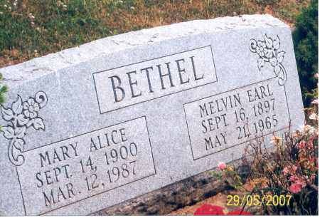 BETHEL, MARY ALICE - Ross County, Ohio | MARY ALICE BETHEL - Ohio Gravestone Photos