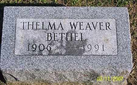 WEAVER BETHEL, THELMA - Ross County, Ohio | THELMA WEAVER BETHEL - Ohio Gravestone Photos