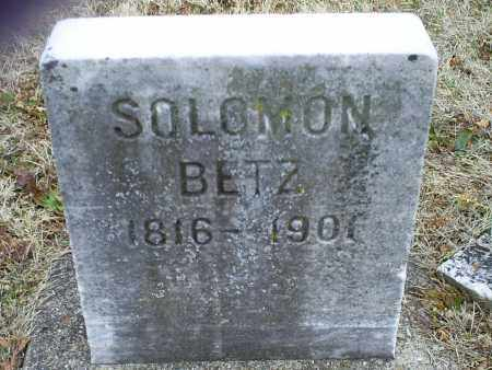 BETZ, SOLOMON - Ross County, Ohio | SOLOMON BETZ - Ohio Gravestone Photos