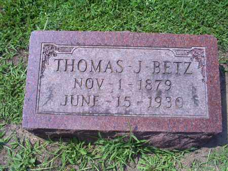 BETZ, THOMAS J. - Ross County, Ohio | THOMAS J. BETZ - Ohio Gravestone Photos