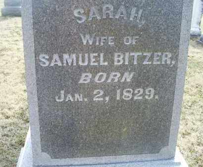 BITZER, SARAH - Ross County, Ohio | SARAH BITZER - Ohio Gravestone Photos