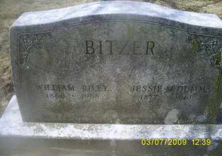 BITZER, WILLIAM RILEY - Ross County, Ohio | WILLIAM RILEY BITZER - Ohio Gravestone Photos