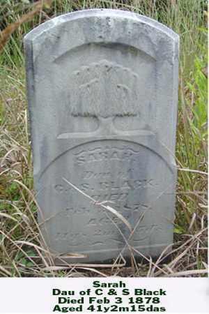 BLACK, SARAH - Ross County, Ohio   SARAH BLACK - Ohio Gravestone Photos
