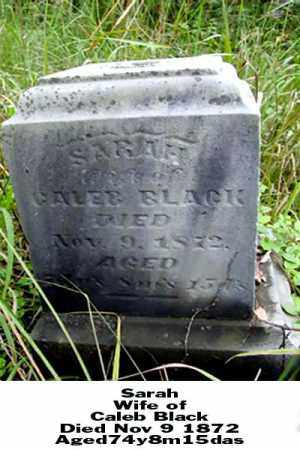 BLACK, SARAH - Ross County, Ohio | SARAH BLACK - Ohio Gravestone Photos